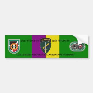 301ST PSYOPS COMPANY Bumper Sticker