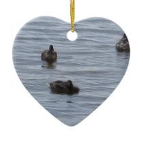 3024 Ducks in water Ceramic Ornament