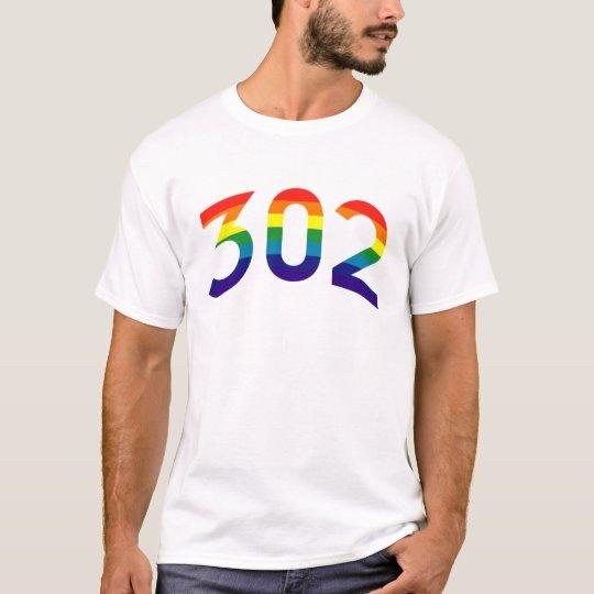 302 (Area Code) Rainbow T-shirt