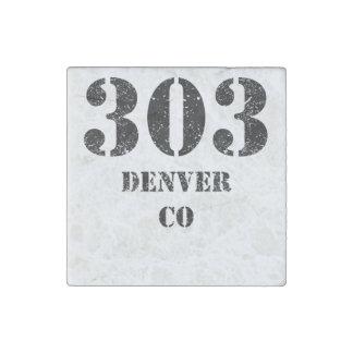 303 Denver CO Imán De Piedra