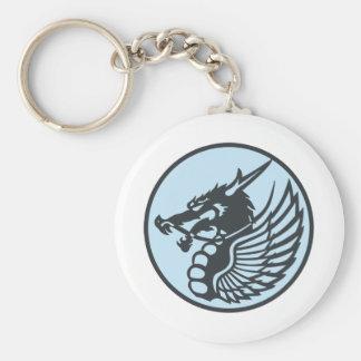303rd flight squadron sub patch basic round button keychain