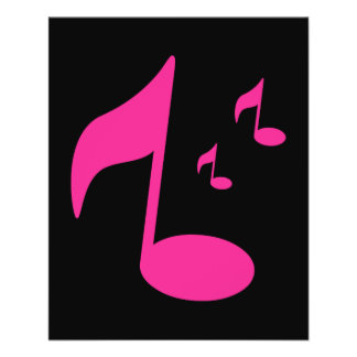 3046450GIRLY PINK MUSIC NOTES SYMBOLS FUN PARTY DA FLYERS