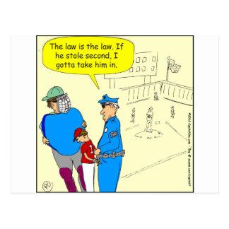 304 dibujo animado de la base de la estola segunda tarjeta postal