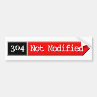 304 - Not Modified Car Bumper Sticker