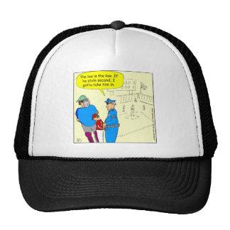 304 stole second base cartoon trucker hat