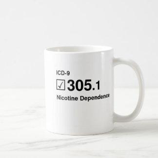 305.1, Nicotine Dependence Classic White Coffee Mug
