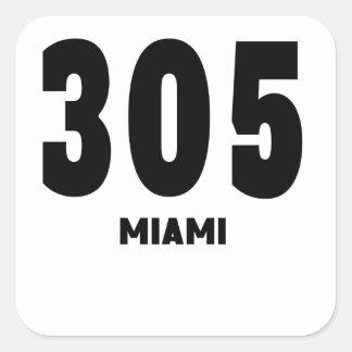 305 Miami Square Sticker