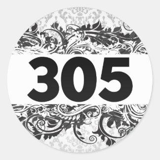 305 PEGATINA REDONDA