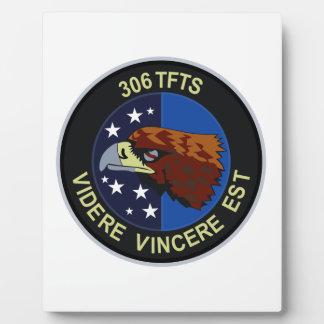 306 TFTS (F-16) Volkel AB - holandés Placas De Plastico