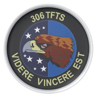 306 TFTS (F-16) Volkel AB - holandés Plato De Comida