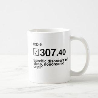 307.40, Specific disorders of sleep, nonorganic or Classic White Coffee Mug
