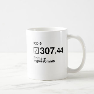307.44, Primary hypersomnia Classic White Coffee Mug