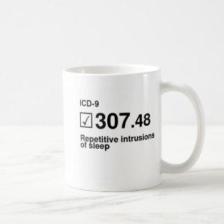 307.48, Repetitive intrusions of sleep Classic White Coffee Mug