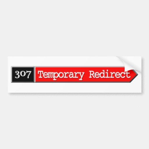 307 - Temporal reoriente Etiqueta De Parachoque