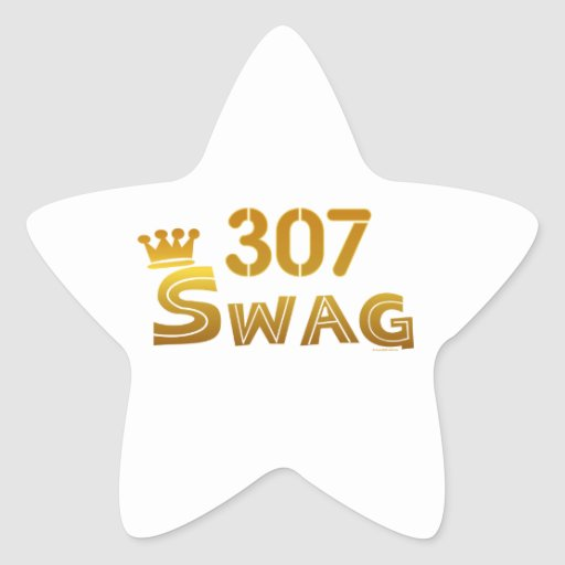 307 Wyoming Swag Star Stickers
