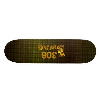 308 Area Code Swag Skateboard