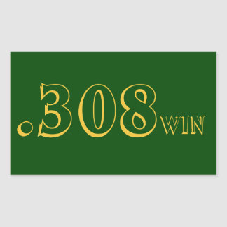 .308 Win Ammo Sticker