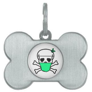 3090 DISEASES SKULL DANGER DEATH LOGO SCARY EPIDEM PET TAG