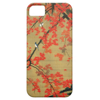 30. 紅葉小禽図, 若冲 Maple & Small Birds, Jakuchū iPhone SE/5/5s Case