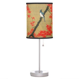 30. 紅葉小禽図, 若冲 Maple & Small Birds, Jakuchū Table Lamp