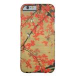 30. 紅葉小禽図, arce y pequeños pájaros, Jakuchū del 若冲 Funda De iPhone 6 Barely There