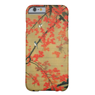 30. 紅葉小禽図, arce y pequeños pájaros, Jakuchū del 若冲 Funda Barely There iPhone 6