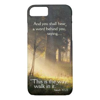 30:21 de Isaías del verso de la biblia ésta es la Funda iPhone 7