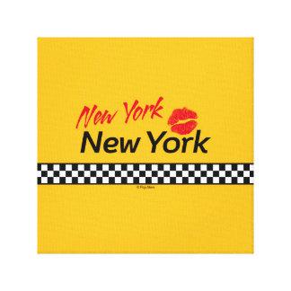 30.48x30.48cm, 3.81cm, Taxi NY & Red Kiss Impresión En Lona