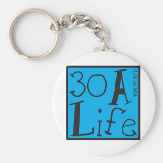 30 A LIFE BASIC ROUND BUTTON KEYCHAIN