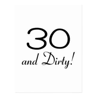 30 And Dirty 3 Postcard