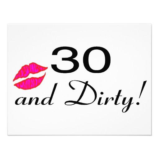 30 And Dirty Lips Invite Zazzle