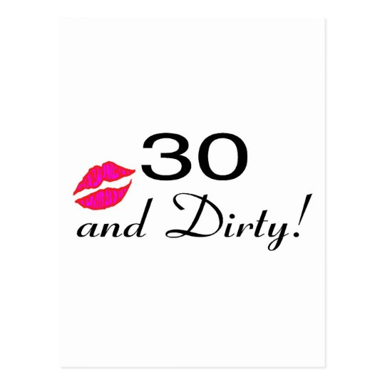30 And Dirty Lips Postcard
