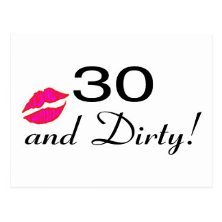 30 And Dirty Lips Postcards