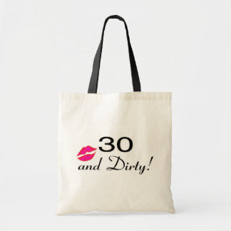 30 And Dirty Lips Tote Bag