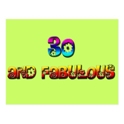 30 and fab rainbow post cards