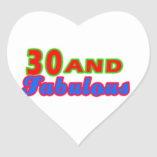 30 and Fabulous Birthday Designs Stickers