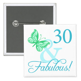 30 And Fabulous Birthday Gifts Aqua Buttons
