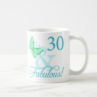 30 And Fabulous Birthday Gifts (Aqua) Coffee Mug