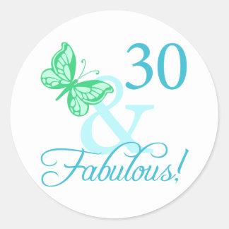 30 And Fabulous Birthday Gifts (Aqua) Sticker