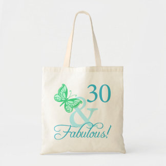 30 And Fabulous Birthday Gifts (Aqua) Tote Bags