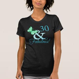 30 And Fabulous Birthday Gifts (Aqua) Tee Shirts