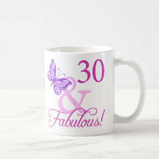 30 And Fabulous Birthday Gifts (Plum) Coffee Mug