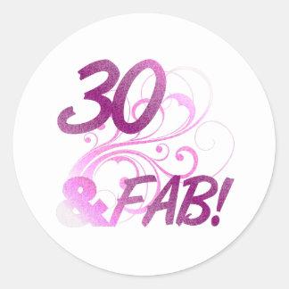 30 And Fabulous Birthday Sticker