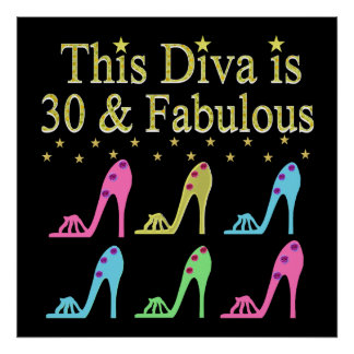 30 AND FABULOUS SHOE QUEEN DESIGN POSTER