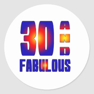 30 And Fabulous Stickers