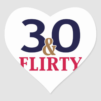 30 and Flirty 30th Birthday stickers
