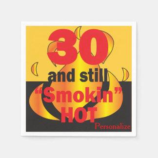 30 and Still Smokin Hot | 30th Birthday Paper Napkin