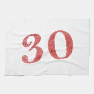 30 años de aniversario toalla de cocina