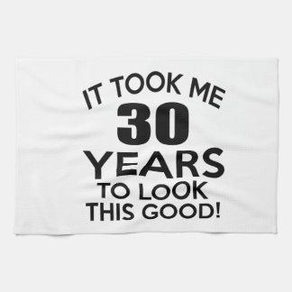 30 años de diseños del cumpleaños toallas de cocina