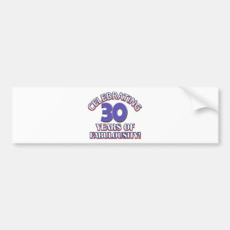 30 años de fabulousity pegatina para auto